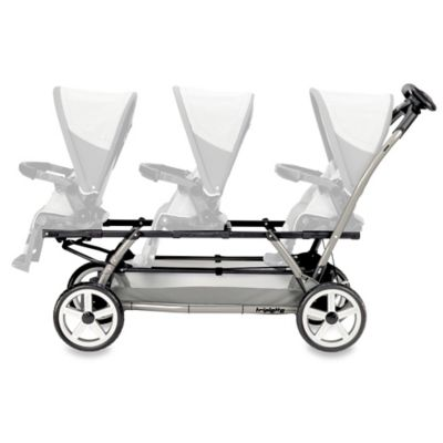Peg Perego Triplette Stroller Chassis in Charcoal