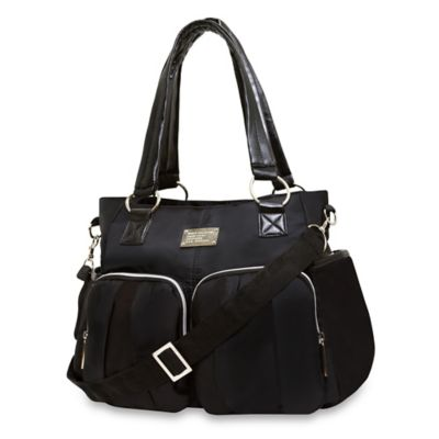 Wendy Bellissimo™ Black Shirred Pocket Diaper Bag