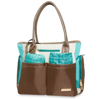 Fisher-Price® 5-Piece Tote in Grey/Teal/Ivory