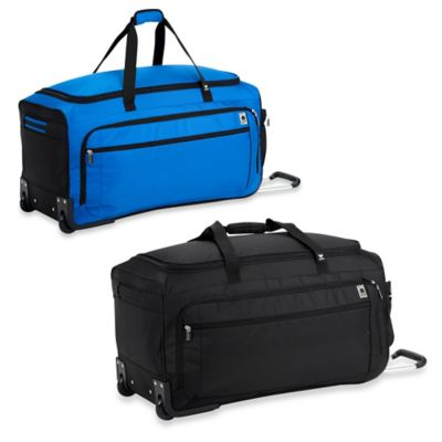DELSEY Helium Sky 28-Inch Spinner Trolley Duffel in Blue