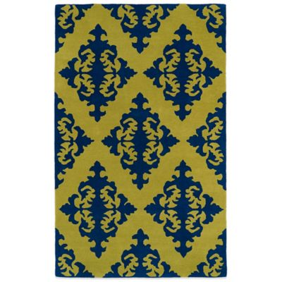 Kaleen Evolution 5-Foot x 7-Foot 9-Inch EVL05 Rug in Navy