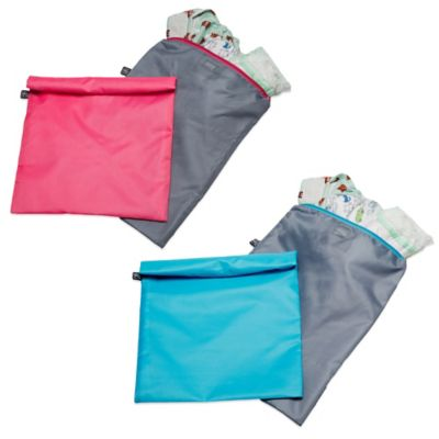 Wet-to-Go Wet Bags 2-Pack in Grey/Pink