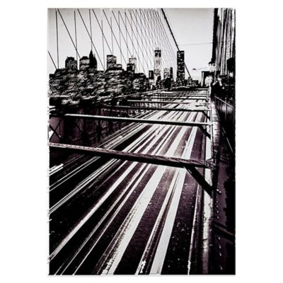 David Clapp Brooklyn Bridge Lights Canvas Wall Art