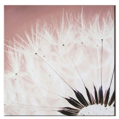 Dandelion with Glitter Canvas Wall Art