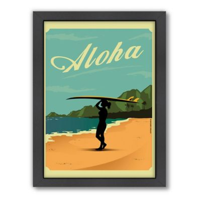 "Americanflat ""Aloha"" Digital Print Wall Art"