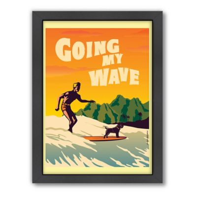 "Americanflat ""Going My Wave"" Digital Print Wall Art"