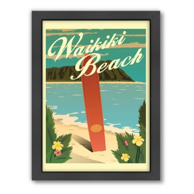 "Americanflat ""Waikiki"" Digital Print Wall Art"
