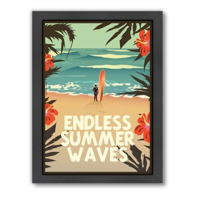 "Americanflat ""Endless Summer Waves"" Digital Print Wall Art"