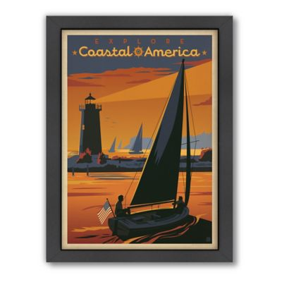 "Americanflat ""Explore Coastal America"" Digital Print Wall Art"