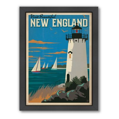 "Americanflat ""Visit Beautiful New England"" Digital Print Wall Art"
