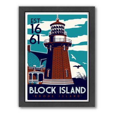 "Americanflat ""Block Island, Rhode Island, Est 1661"" Digital Print Wall Art"