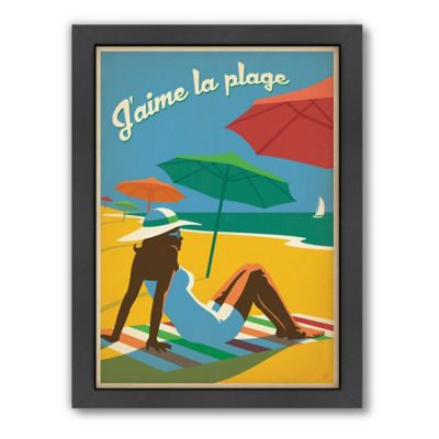 "Americanflat ""J'aime la Plage"" Digital Print Wall Art"