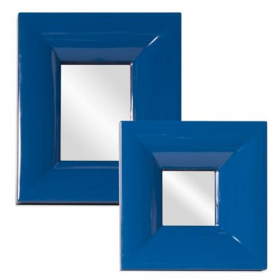 Howard Elliott® Large Candy Mirror in Cobalt Blue