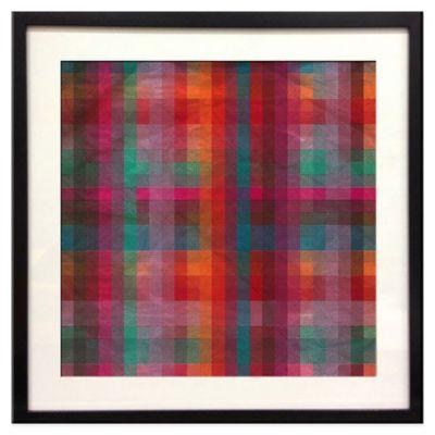 """""""Neon Pixel"""" Framed Art"""