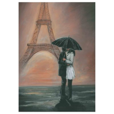 Kissing in Paris Canvas Wall Art