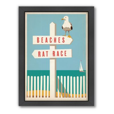 "Americanflat ""Beaches/Rat Race"" Digital Print Wall Art"