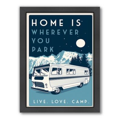 "Americanflat ""Home is Wherever You Park"" Digital-Print Wall Art"