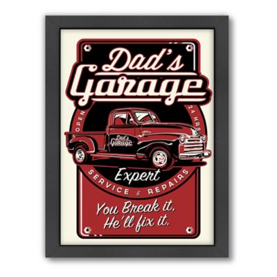 "Americanflat ""Dad's Garage"" Digital Print Wall Art"