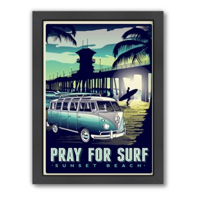 "Americanflat ""Pray For Surf"" Sunset Beach Digital Print Wall Art"