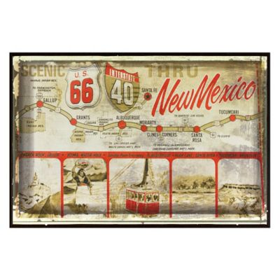 New Mexico Greetings Postcard on Box Wall Art