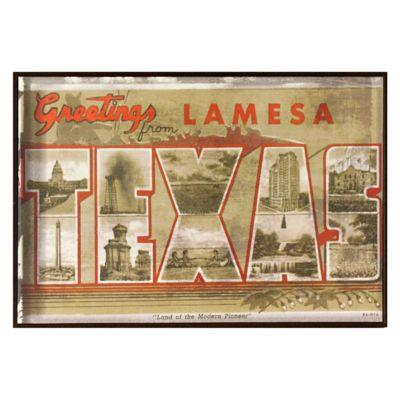 Texas Greetings Postcard on Box Wall Art