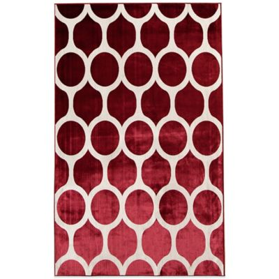 Rugs America Ambrose Links 26-Inch x 91-Inch Area Rug in Crimson
