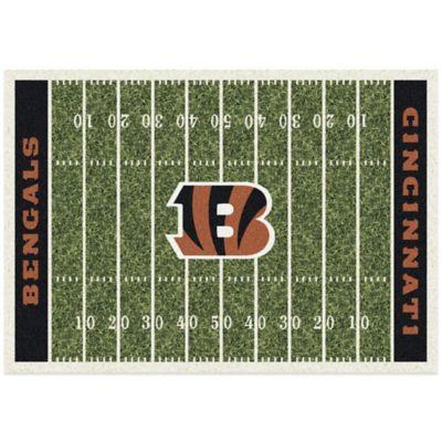 NFL Cincinnati Bengals 7-Foot 8-Inch x 10-Foot 9-Inch Large Home Field Rug