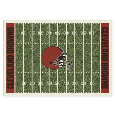 NFL Cleveland Browns 3-Foot 10-Inch x 5-Foot 4-Inch Small Home Field Rug