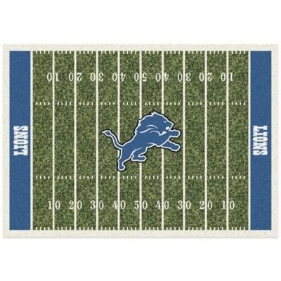 NFL Detroit Lions 3-Foot 10-Inch x 5-Foot 4-Inch Small Home Field Rug
