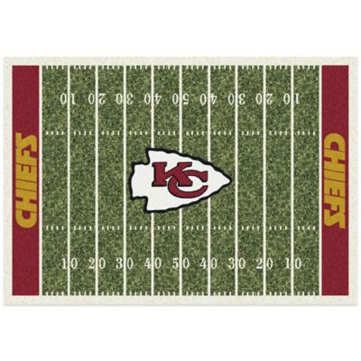 NFL Kansas City Chiefs 3-Foot 10-Inch x 5-Foot 4-Inch Small Home Field Rug