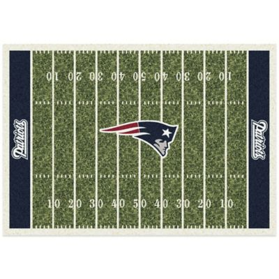 NFL New England Patriots 3-Foot 10-Inch x 5-Foot 4-Inch Small Home Field Rug