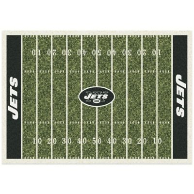 NFL New York Jets 3-Foot 10-Inch x 5-Foot 4-Inch Small Home Field Rug