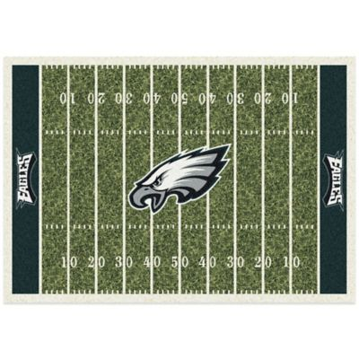 NFL Philadelphia Eagles 5-Foot 4-Inch x 7-Foot 8-Inch Medium Home Field Rug