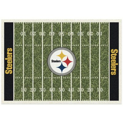 NFL Pittsburgh Steelers 5-Foot 4-Inch x 7-Foot 8-Inch Medium Home Field Rug
