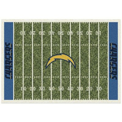 NFL San Diego Chargers 3-Foot 10-Inch x 5-Foot 4-Inch Small Home Field Rug