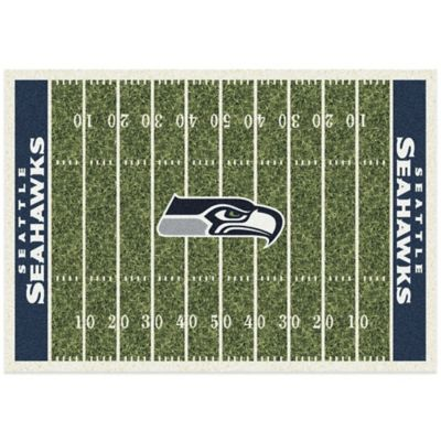 NFL Seattle Seahawks 3-Foot 10-Inch x 5-Foot 4-Inch Small Home Field Rug