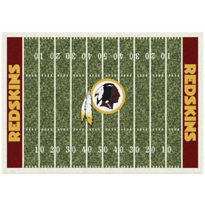 NFL Washington Redskins 3-Foot 10-Inch x 5-Foot 4-Inch Small Home Field Rug