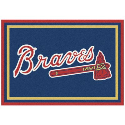 MLB Atlanta Braves 7-Foot 8-Inch x 10-Foot 9-Inch Large Spirit Rug