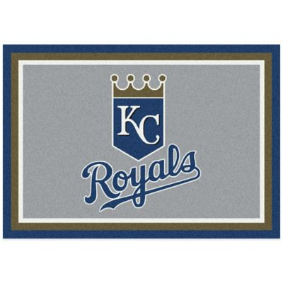 MLB Kansas City Royals 7-Foot 8-Inch x 10-Foot 9-Inch Large Spirit Rug