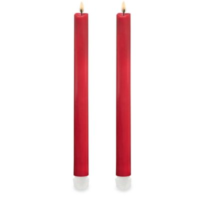 LED Flameless Taper Candles in Red (Set of 2)