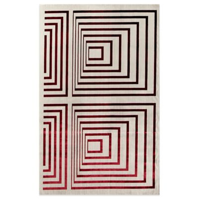 Rugs America Ambrose Illusion 94-Inch x 130-Inch Area Rug in Crimson