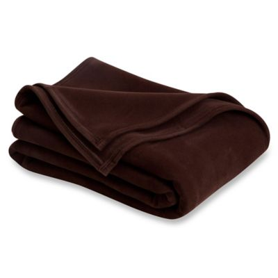 Vellux® Twin Blanket in Chocolate