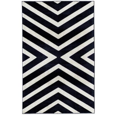 Rugs America Ambrose Angle 26-Inch x 91-Inch Area Rug in Navy