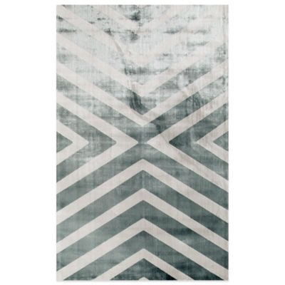 Rugs America Ambrose Angle 59-Inch x 90-Inch Area Rug in Blue