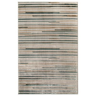 Rugs America Ambrose Stripes 59-Inch x 90-Inch Area Rug in Cream
