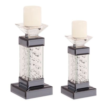 Howard Elliott® Small Mirrored Pedestal Candleholder