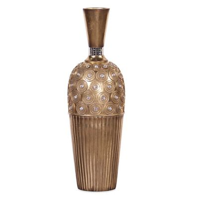 Howard Elliott® Gold Gem Studded Tall Vase