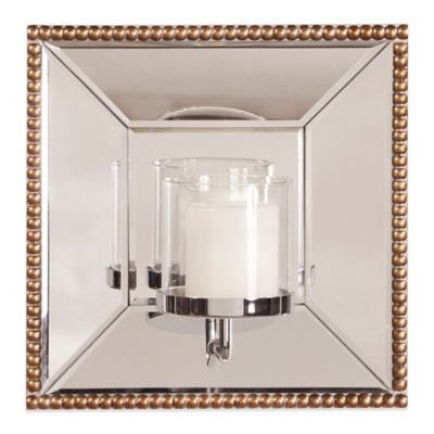 Howard Elliott® Lydia Mirror with Candle Holder