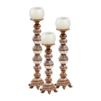 Howard Elliot® Antique Mirrored Candle Holders (Set of 3)