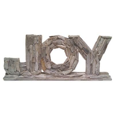 24-Inch Driftwood Joy Wordblock on Base